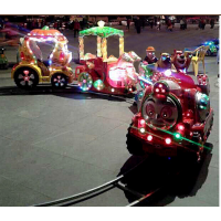 轨道火车游乐设备 广场儿童游乐园小火车 户外旋转木马娱乐玩具设施