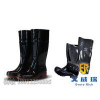 防水PVC中筒高筒雨靴 防汛雨鞋