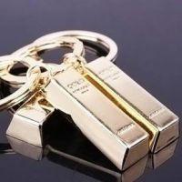 批发 金条 黄金 个性 财富钥匙扣 情侣钥匙扣 可印LOGO钥匙扣