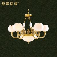 云石全铜灯 客厅卧室吊灯 欧式仿古云石灯 可工程订做