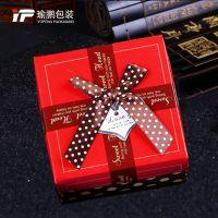 厂家批发欧式创意圆点蝴蝶结喜糖盒结婚婚礼婚庆用品折叠糖果纸盒