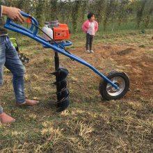 手提式挖坑机 便携式挖坑机 富兴大马力打坑机