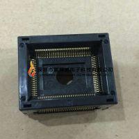 WELLS-CTI 680H1001111-001H IC插座QFP100PIN弹压式 双触点测试座