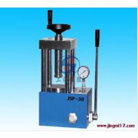 上海精胜JSP-30手动粉末压片机|30吨实验室粉末成型机_指针压力表|包税包邮