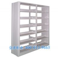 【图书馆专用】供应雄虎现代中式钢制双柱双面书架