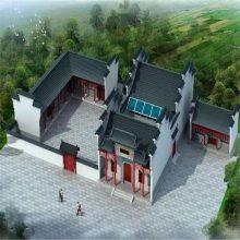 广西桂林古建筑工程承包农村祠堂效果图,仿古祠堂装饰装修
