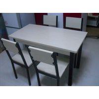 板式餐桌椅组合 加厚餐桌 简约钢木组合餐桌椅 限量促销