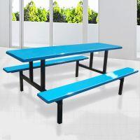 厂家直销东莞员工食堂餐桌椅 食堂八人餐桌尺寸 价格合理