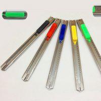 9mm小号美工刀不锈钢刀裁纸刀办工文具贴膜拆快递包袋必备刀具