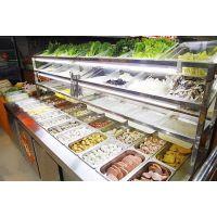 麻辣烫冒菜展示柜 不锈钢冒菜冷藏柜 保鲜展示柜