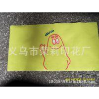 供应汗巾上卡通动漫人物经典印花加工 高质量热升华转印加工