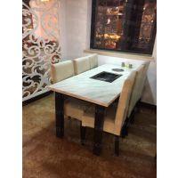 杭州烤肉店家具定做烤肉店火锅店餐桌椅杭州自助餐厅家具定做厂家