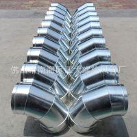 江大镀锌螺旋风管加工厂质量保证专业生产圆形螺旋90度虾米弯头