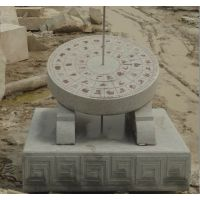 天和雕塑 天然石材石雕日晷广场计时器日晷雕塑