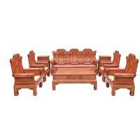 誉典福红木 喜从天降沙发 刺猬紫檀 精致工艺客厅古典式
