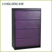 丰龙特价简约钢制宽四抽文件柜档案柜办公室资料收纳储物柜铁皮柜