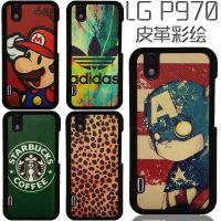 LG P970手机保护套磨砂外壳彩绘手机壳卡通情侣硬壳黑边个性定制