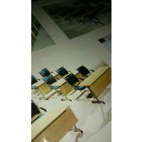 【厂家直销】优质多层板,中小学生课桌椅,培训椅,阅览室桌椅