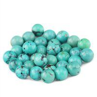 厂家直销天然绿松石散珠 蓝白红四色圆珠子长条工艺品批发