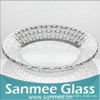 蚌埠工厂供应三美精美家用盘子 水果玻璃盘子 透明简约高端实用