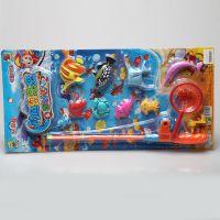9.9元店10元店加盟地摊热卖夏季戏水塑料捕鱼达人小童玩具钓鱼竿