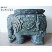 【艺品福人】假山流水加湿器 罗马风格室内家居装饰大象流水