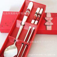 婚庆回礼 婚庆喜事用品 结婚婚礼小礼物创意实用小礼品 情侣勺筷
