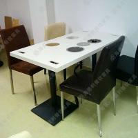 海德利厂家直销大理石火锅桌椅组合批发专业定做多人餐桌餐椅套批发代理