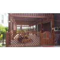 恒丰通防腐木加工厂供应 防腐木口料碳化木口料防腐木花架围栏安装