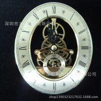 透视机芯工厂供应定制椭圆形钟表配件工艺钟机芯 不锈钢钛金属石英钟机芯