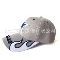 供应精细绣花遮阳帽 运动休闲男式双色棒球帽 帽子批发