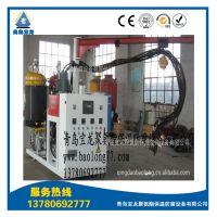 青岛宝龙供应仿木内墙装饰板PU聚氨酯PLC人机界面高压发泡机