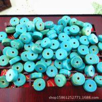 天然水晶原石绿松石 盘珠桶珠隔珠筒珠散珠串珠DIY饰品