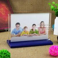 创意亚克力桌面摆放相框相架 透明仿水晶展示相框 5寸6寸相框相架