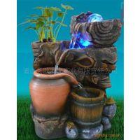 厂家直销石头树脂中欧式室内外陶瓷招财礼品水景风水假山魚缸