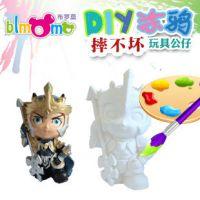 石膏白色存钱罐批发 彩绘娃娃 DIY非陶瓷彩绘玩具 摔不坏 ZC-E075