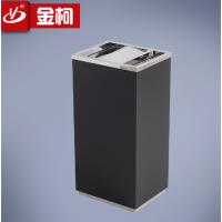 提供金柯翻盖垃圾桶zd-0054公用铁烤漆垃圾箱方形果壳箱批发