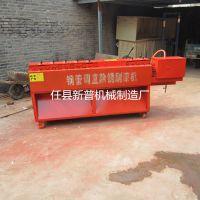 大棚蔬菜搭建用钢管调直机河北新普专业生产制造钢管调直机