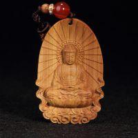 厂家直销 批发 澳洲檀香莲坐如来挂件檀香 木雕手工艺品
