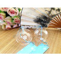 供应玻璃空心工艺风铃,60mm玻璃风铃装饰品,玻璃音乐风铃