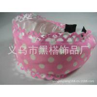 韩国正品 发饰 刺绣蕾丝宽边发箍发带 玫瑰花纹款宽头箍 发夹发饰