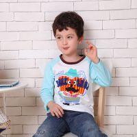 产品 春装外贸韩国爆款童装长袖男童T恤 童t恤 儿童打底衫