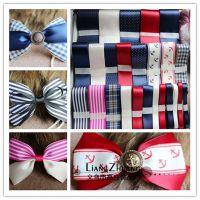 DIY饰品配件 手工蝴蝶结发夹发饰材料包缎带套餐海军风丝带套装