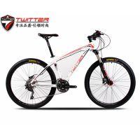 骓特自行车ELVIS猫王山地车禧玛诺30速双油碟刹男女款26寸自行车批发