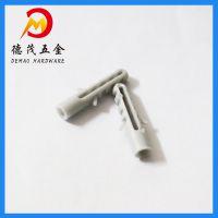 广东批发 DM塑胶膨胀管 灰色国标尼龙塑胶膨胀螺丝M6 塑料膨胀管