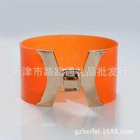 广州外贸出口饰品 欧美时尚复古手镯 手饰 PVC透明手链批发混批