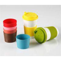 陶瓷杯防撞套 隔热套 玻璃杯硅胶防烫套 硅胶杯盖 可订做各种款式颜色