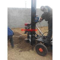 水泥杆地钻 小型打眼机 车载挖坑机视频