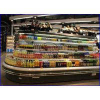 佳伯四面展示环岛柜价格 河源连锁超市酒水冷藏柜 KTV超市啤酒饮料柜