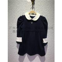 皮尔卡丹品牌童装折扣韩版衬衫童装过季尾货货源批发